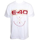 E-40 - White Logo T-Shirt - Extra Large