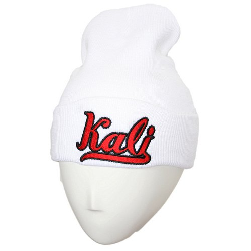 Krizz Kaliko - White Kali Embroidered Folded Skull Cap #2
