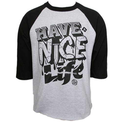 Murs - Gray / Black Have A Nice Life Raglan T-Shirt