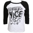 MURS - White / Black Have A Nice Life Ladies Raglan T-Shirt