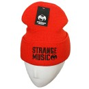 Strange Music - Hunter Orange Stencil Embroidered Folded Skull Cap
