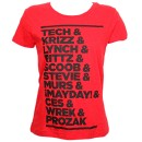 Strange Music - Red Roster Ladies T-Shirt - Ladies Small