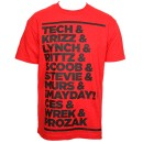 Strange Music - Red Roster T-Shirt - Extra Large