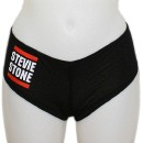 Stevie Stone - Black Run It Ladies Booty Shorts - Ladies Medium