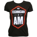 Tech N9ne - Black Technician I Am Ladies T-Shirt - Ladies Medium