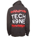 Tech N9ne - Charcoal Stamp Zip Hoodie