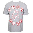 Tech N9ne - Gray Facepaint Collegiate T-Shirt - Large