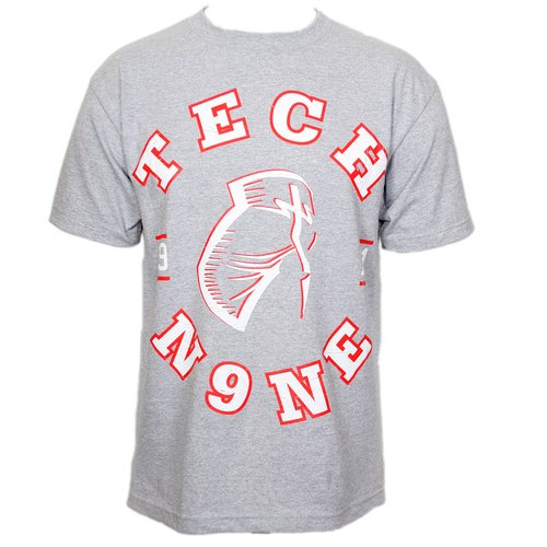 Tech N9ne - Gray Facepaint Collegiate T-Shirt