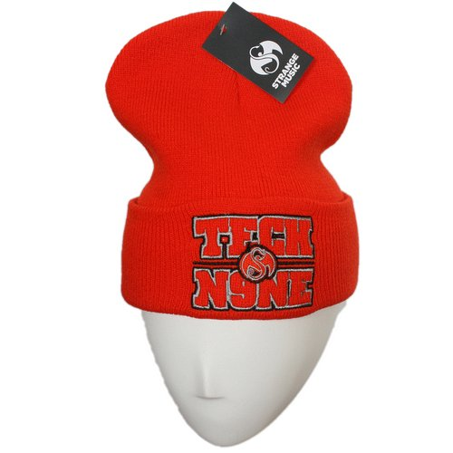 Tech N9ne - Hunter Orange Block Embroidered Folded Skull Cap