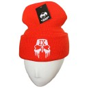 Tech N9ne - Hunter Orange Facepaint Embroidered Folded Skull Cap