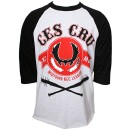 Ces Cru - White / Black Banner Raglan T-Shirt - Medium