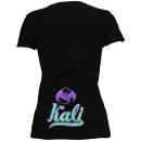Krizz Kaliko - Black Inset Spider Ladies T-Shirt