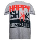 Krizz Kaliko - Heather Gray Happyish T-Shirt - Extra Large