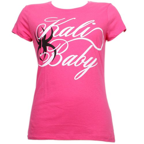 Krizz Kaliko - Pink Spider Baby Ladies T-Shirt