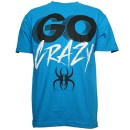 Krizz Kaliko - Turquoise Go Crazy T-Shirt - Large