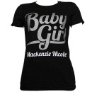 Mackenzie Nicole - Black Baby Girl Ladies T-Shirt - Ladies Large