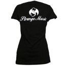 Mackenzie Nicole - Black Cursive  Ladies V-Neck T-Shirt