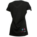 Mackenzie Nicole - Black Lotus Ladies V-Neck T-Shirt