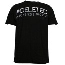 Mackenzie Nicole - Black Deleted T-Shirt - Extra Large