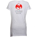 Mackenzie Nicole - White Lips Ladies V-Neck T-Shirt