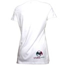 Mackenzie Nicole - White Starburst Ladies V-Neck T-Shirt
