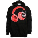 Strange Music - Black Headphones Hoodie - Large