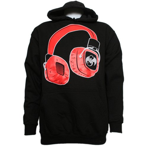Strange Music - Black Headphones Hoodie