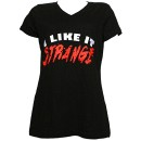 Strange Music - Black I Like It Strange Ladies V-Neck T-Shirt - Ladies Large