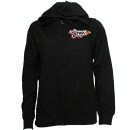 Strange Music - Black Floral Ladies Zip Hoodie