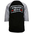 Strange Music - Black / Gray Since 2000  Raglan T-Shirt