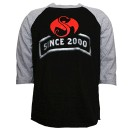 Strange Music - Black / Gray Since 2000 Raglan T-Shirt - Extra Large
