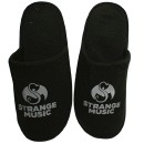 Strange Music - Black  Slippers - Extra Large