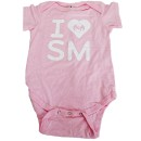 Strange Music - Pink I Heart SM Body Suit - 6 Months