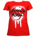 Strange Music - Red Graffiti Ladies T-Shirt - Ladies Large