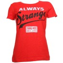 Strange Music - Red Always Strange Ladies T-Shirt - Ladies Small