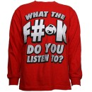 Strange Music - Red What The Eff Long Sleeve T-Shirt - Medium