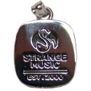 Strange Music - Silver Ring Top Pendant