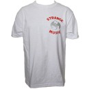Strange Music - White Monogram T-Shirt
