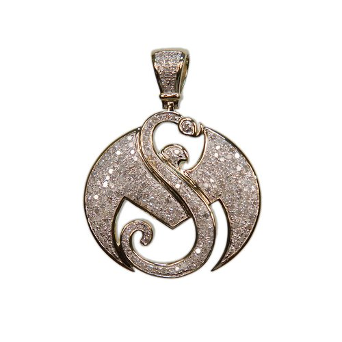 "1 1/2"" Yellow Gold Strange Music Pendant w/1.4 CWT Diamonds"