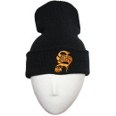 Stevie Stone - Black Gold S Embroidered Folded Skull Cap