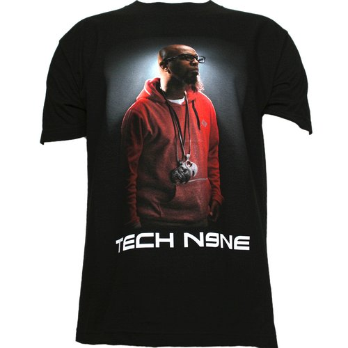 Tech N9ne - Black Pose Full Color T-Shirt