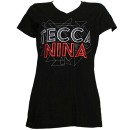 Tech N9ne - Black Tecca Nina Ladies V-Neck T-Shirt - Ladies Large