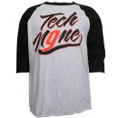 Tech N9ne - Gray / Black Speedy Raglan T-Shirt - Medium