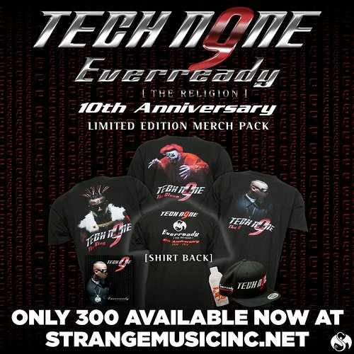 Tech N9ne -  Everready 10th Anniversary Merch Pack