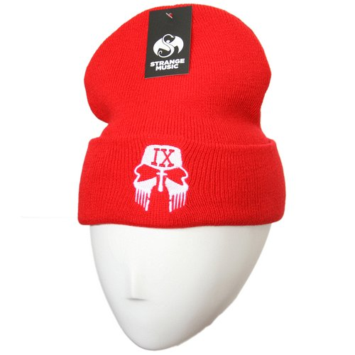 Tech N9ne - Red Facepaint #2 Embroidered Folded Skull Cap
