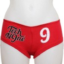 Tech N9ne - Red Scripty Ladies Booty Shorts - Ladies Small