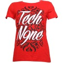 Tech N9ne - Red Cursive Ladies T-Shirt - Ladies X Large
