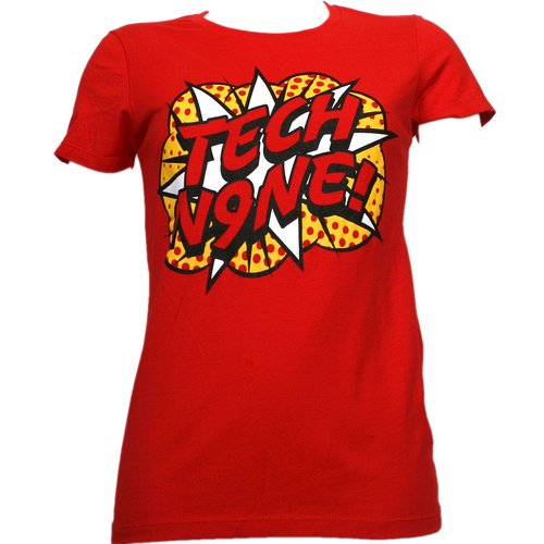 Tech N9ne - Red Pop Art Ladies T-Shirt