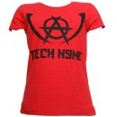 Tech N9ne - Red Worldly Angel Ladies T-Shirt - Ladies Large
