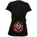 Strange Music - Black Palm Ladies V-Neck T-Shirt